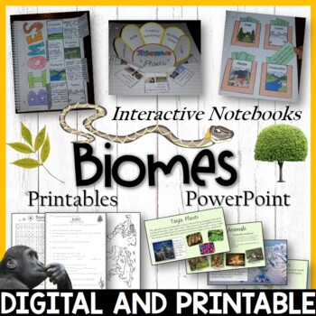Biomes Unit Pack – Interactive Notebooks, Printables, Edit