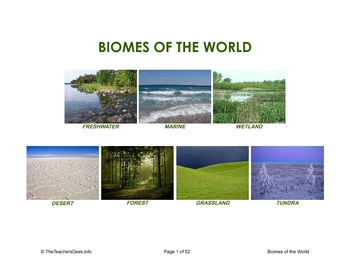 Biomes Picture Activity Cards