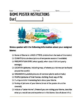 Biomes Poster Research Project