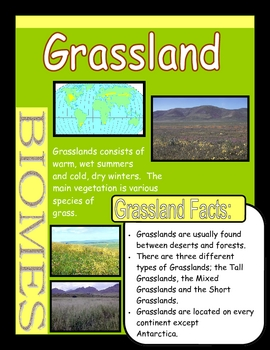 Biomes Poster Set By Once Upon A Creative Classroom