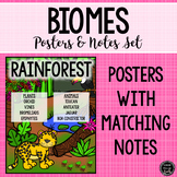 Biomes Poster and Notes Set