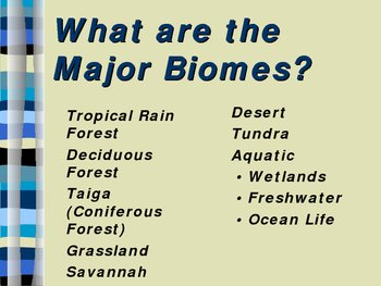 Biomes Power Point