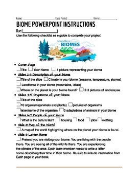 Biomes Powerpoint Research Project