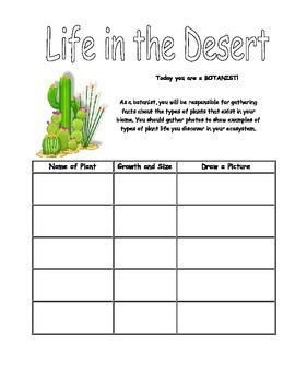 Biomes Project -Research Ecosystems  NO PREP PRINTABLES -Science Standards Unit