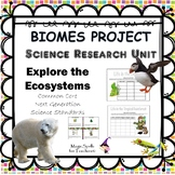 Biomes Project - Research Ecosystems  NO PREP PRINTABLES -Science Standards Unit
