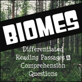 Biomes Reading Comprehension Activities
