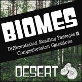 Biomes Reading Comprehension - Desert