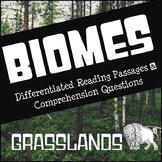 Biomes Reading Comprehension - Grasslands