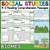 Biomes Reading Comprehension Passages (K-2) - Social Studies