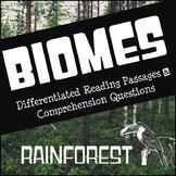 Biomes Reading Comprehension - Rainforest