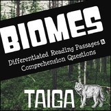 Biomes Reading Comprehension - Taiga