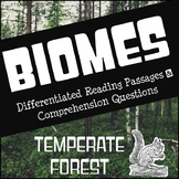 Biomes Reading Comprehension - Temperate Forest