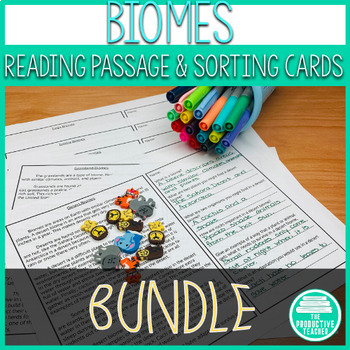 Biomes: Reading Passages and Sorting Cards Bundle