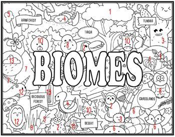 Biomes Seek and Find Science Doodle Page
