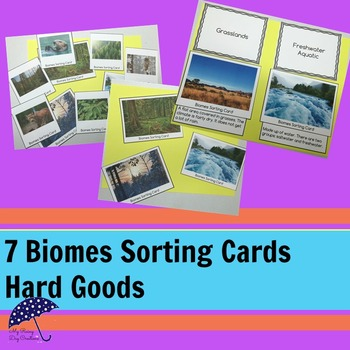 Biomes: Sorting Cards Hard Goods
