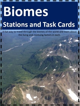 Biomes Stations and Task Cards