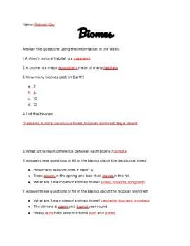 Biomes Study Jams