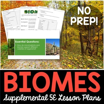 Biomes - Supplemental Lesson - No Lab