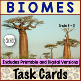 Biomes Task Cards | Printable and Digital Distance Learning