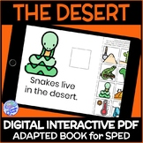 Biomes- The Desert DIGITAL Interactive Adapted Book for Science in Special Ed.