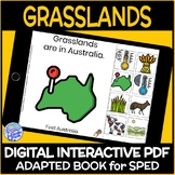 Biomes- The Grasslands DIGITAL Interactive Adapted Book for Life Skills Science