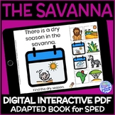 Biomes- The Savanna DIGITAL Interactive Adapted Book for Science in Special Ed