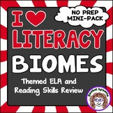 Biomes Themed ELA and Reading Skills Review Mini-Pack - Mo