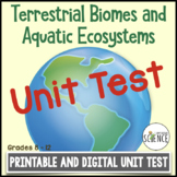 Biomes Unit Test   Printable and Digital Distance Learning