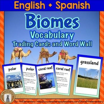 Biomes Trading Cards and Word Wall Posters