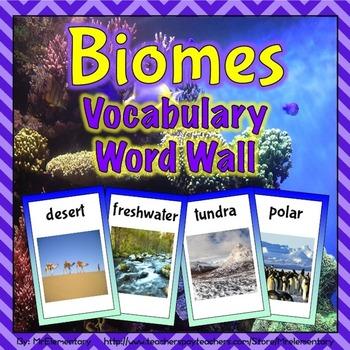 Biomes Vocabulary Word Wall