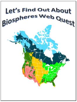 Biomes Webquest Scavenger Hunt Science Common Core Activity