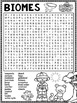 Biomes Word Search Activity