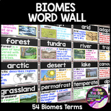 Biomes Unit Word Wall - Biomes Vocabulary Terms with Visuals