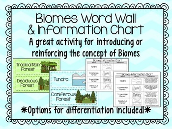 Biomes Vocabulary Activity