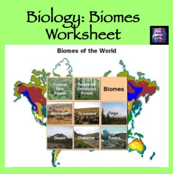 Biome Worksheet | Teachers Pay Teachers