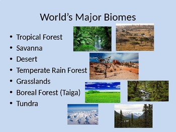 Biomes and Aquatic Ecosystems Powerpoint FULL LESSON