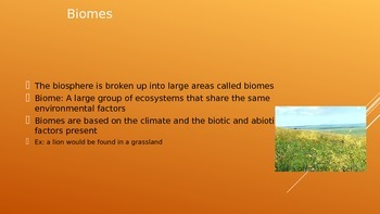 Biomes and Biodiversity ppt and guided notes