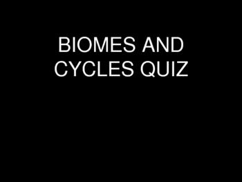Biomes and Cycles Quiz
