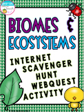 Biomes and Ecosystems Internet Scavenger Hunt WebQuest Activity