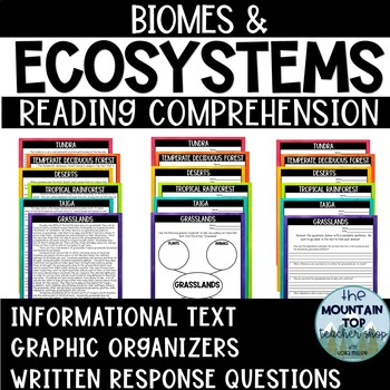 Biomes and Ecosystems Reading Comprehension Passages--UPDATED!