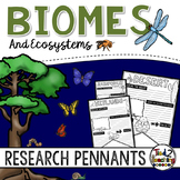 Biomes and Ecosystems Research Pennants