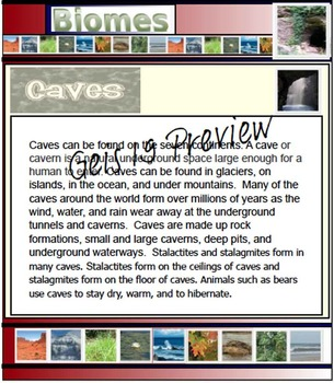 Biomes and Habitats - 90 Pages - PDF File Format