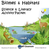 Biomes and Habitats Activity Packet Printable Worksheets