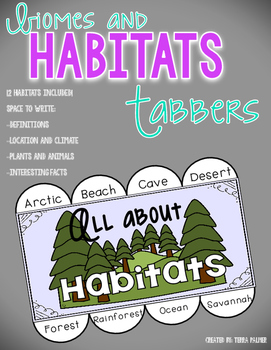 Biomes and Habitats Tabbers
