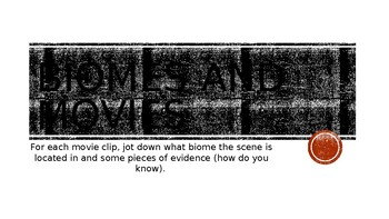 Biomes and Movies Powerpoint