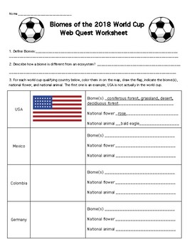 2018 World Cup Teaching Resources | Teachers Pay Teachers