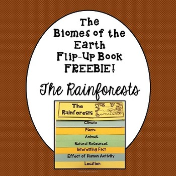 Biomes of the Earth Flip-Up Book Freebie The Rainforest