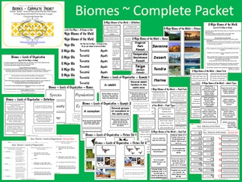 biomes of the world complete packet 22 pages by making it teacher. Black Bedroom Furniture Sets. Home Design Ideas
