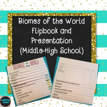 #christmasinjuly Biomes of the World Flip Book for Interactive Notebook