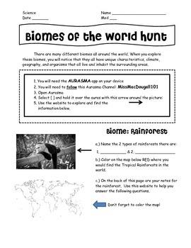 Biomes of the World Hunt - Using Aurasma